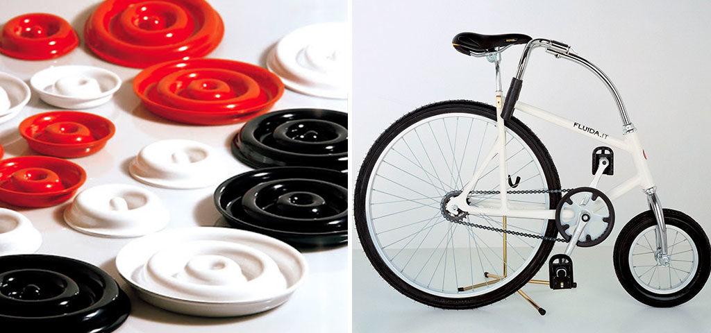 posacenere colorato e bici