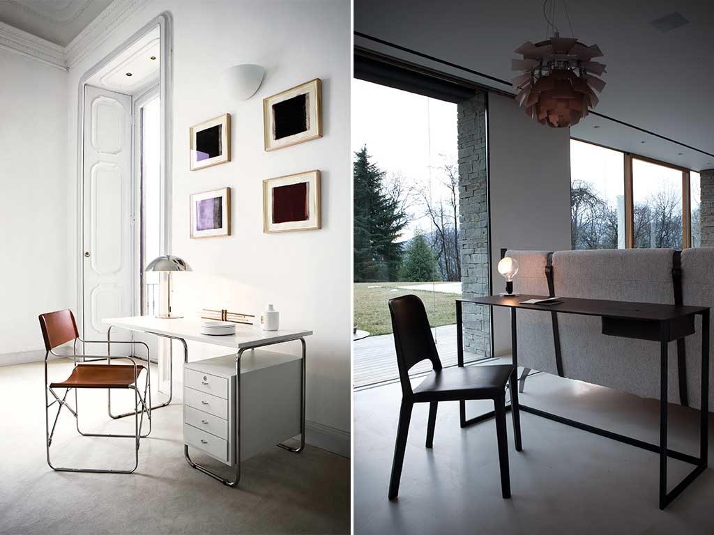 scrivania e tavolino lavoro