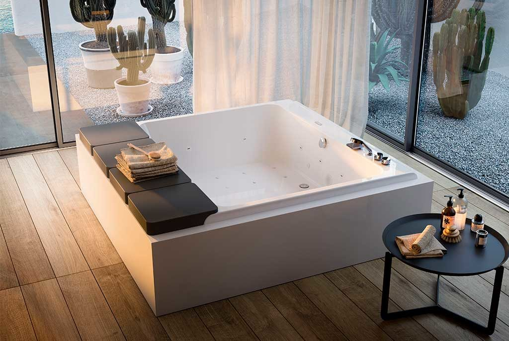 vasca quadrata idromassaggio