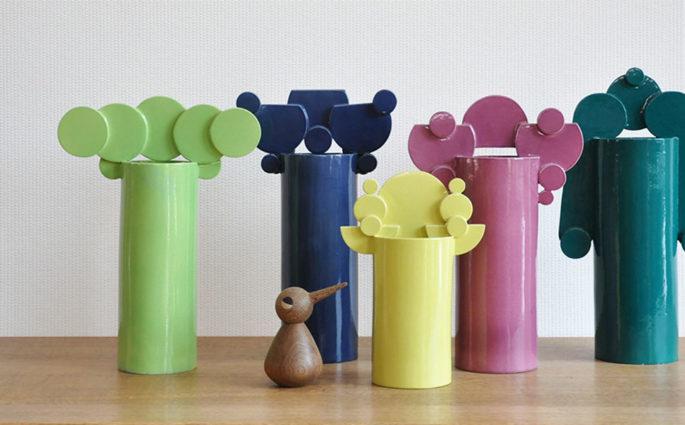 vasi geometrici colorati