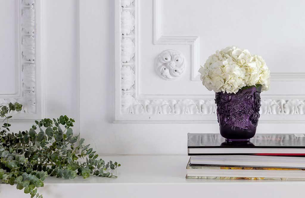 vaso design color glicine scuro