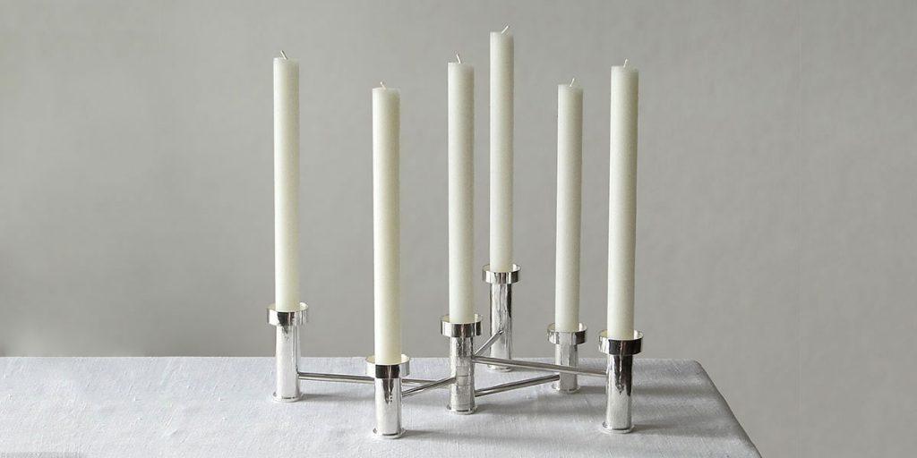 candelabro argento design
