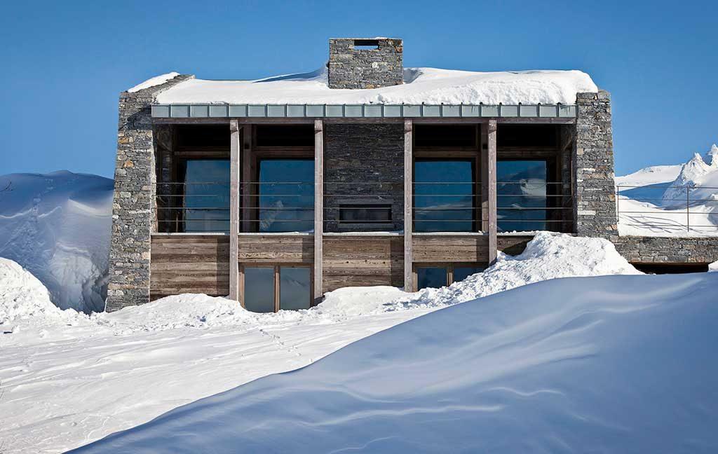casa legno pietra alpi
