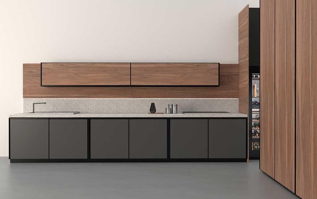 cucina moderna elementi legno