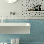 gres porcellanato colorato bagno azzurro