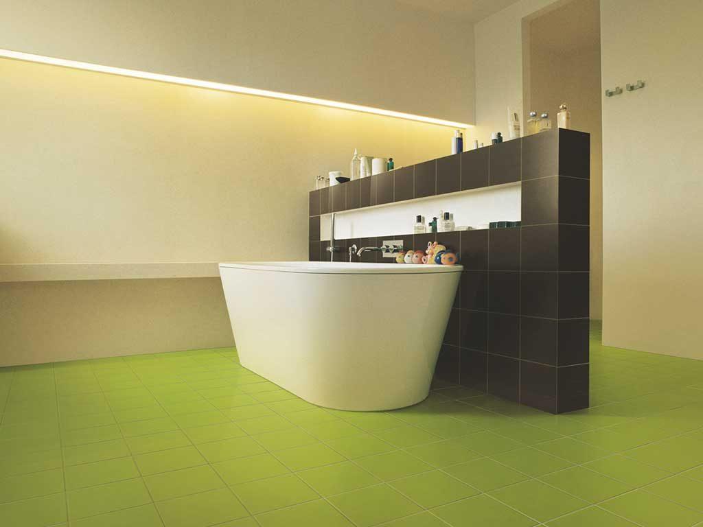 gres porcellanato colorato bagno verde pistacchio