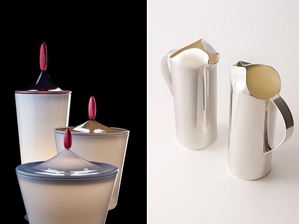 vasi e caraffa argento