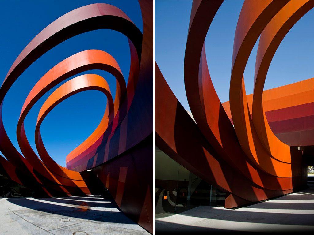 particolare holon design museum edificio