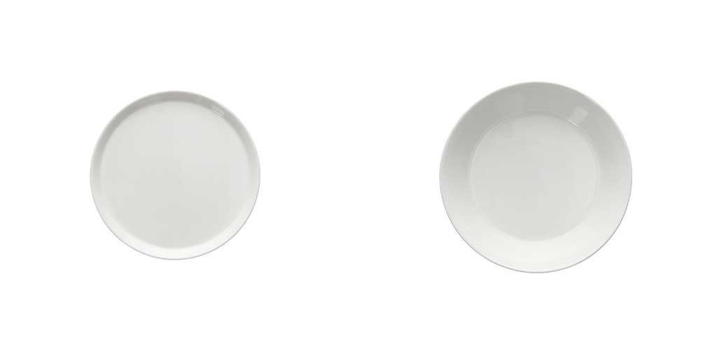 piatto dessert e piatto fondo bianco
