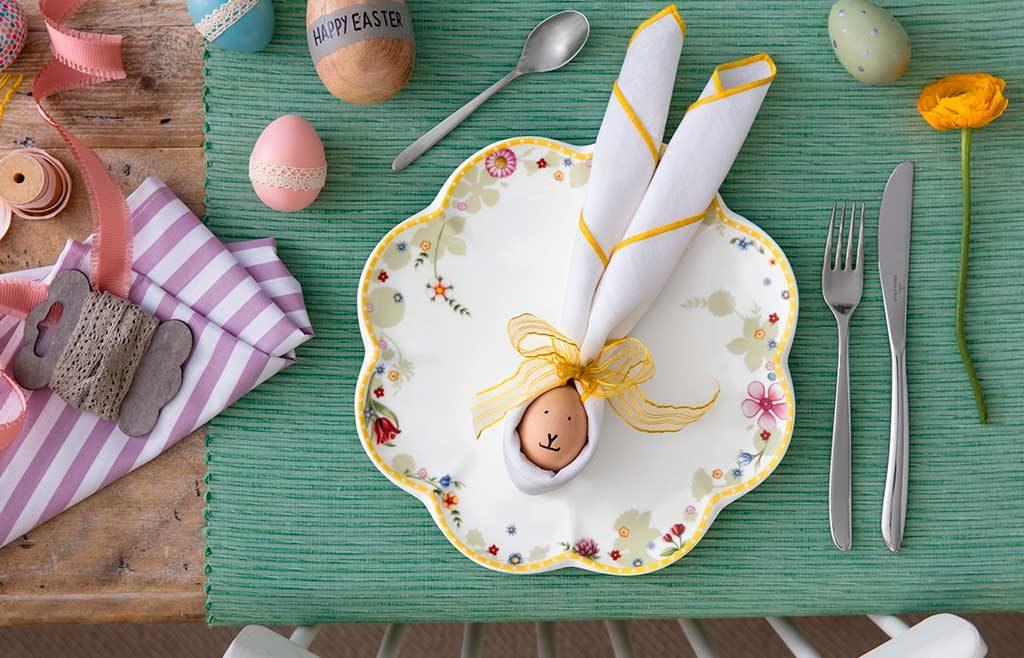 piatto segnaposto uovo pasqua