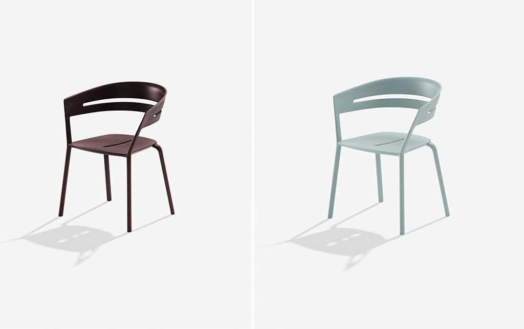 sedie esterno colorate