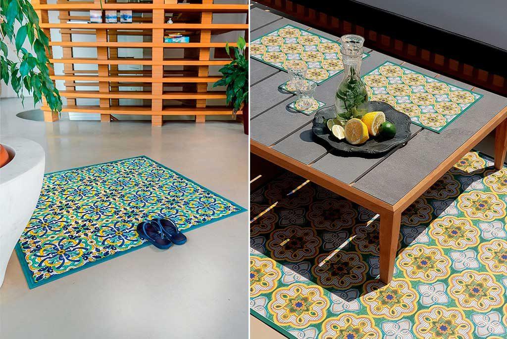tappeto quadrato esterno