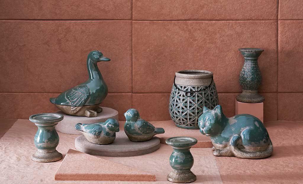 vasi e sculture ceramica animali