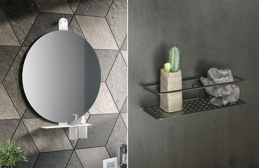 accessori bagno e specchio