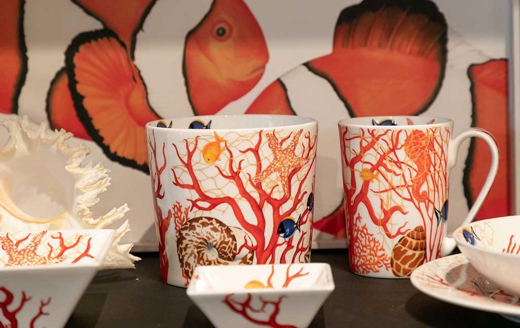 ceramica decoro corallo