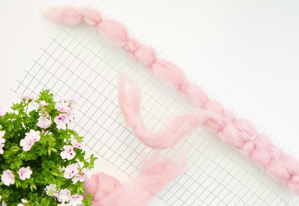 intreccio lana rosa