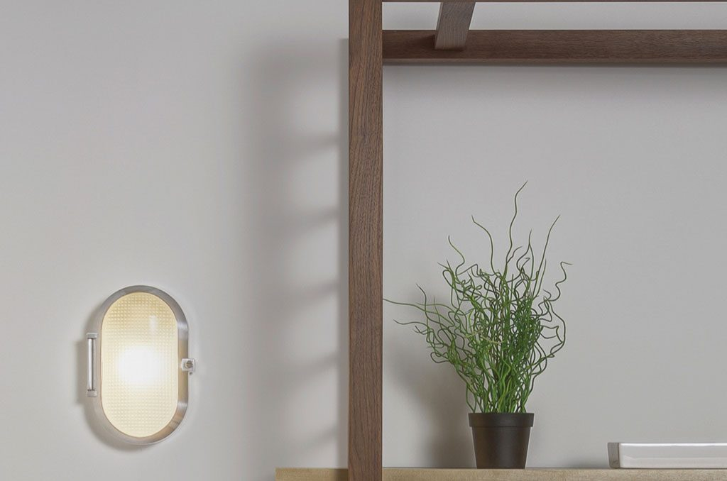 plafone ovale parete