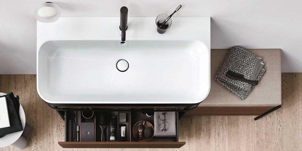 lavabo arredo bagno bicolore design