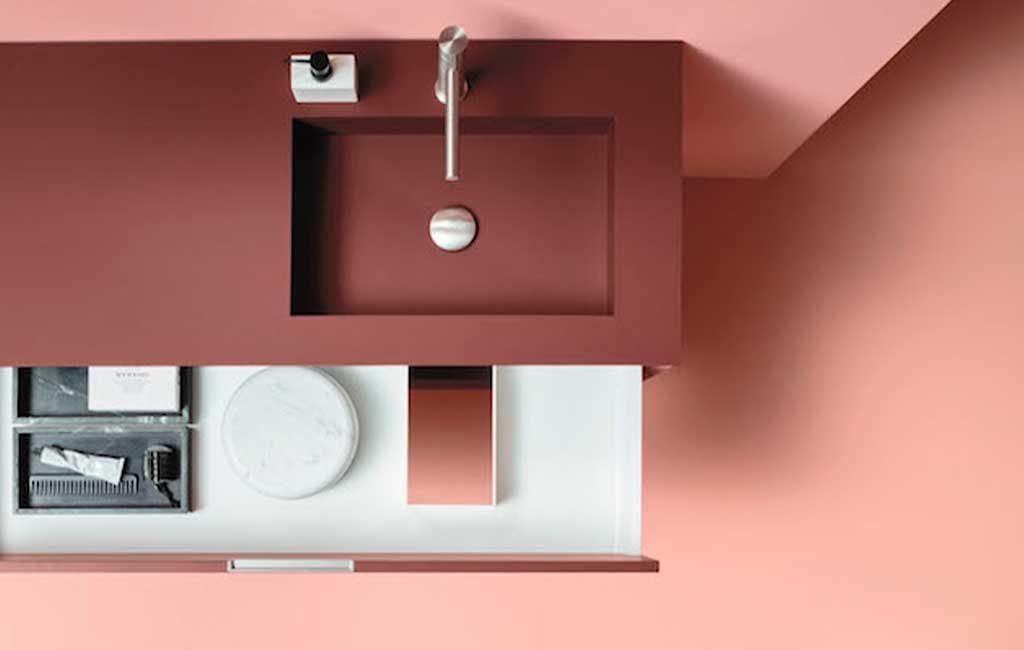 lavabo incassato piano