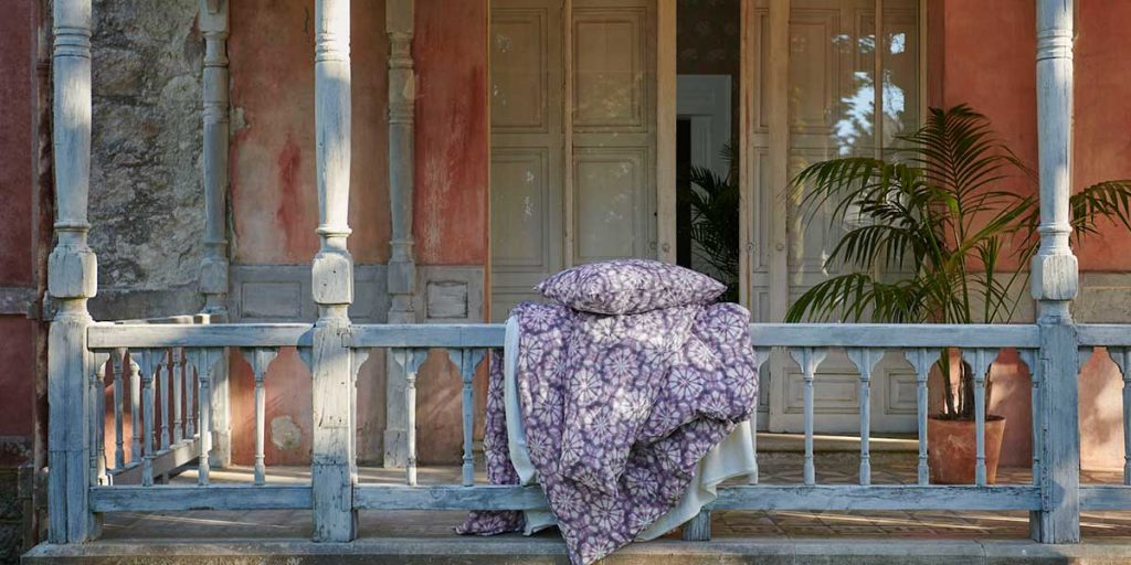 lenzuola cuscino stesi veranda
