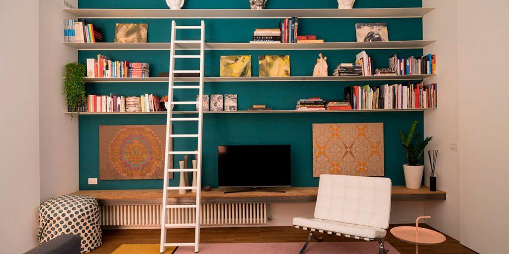 libreria nicchia parete