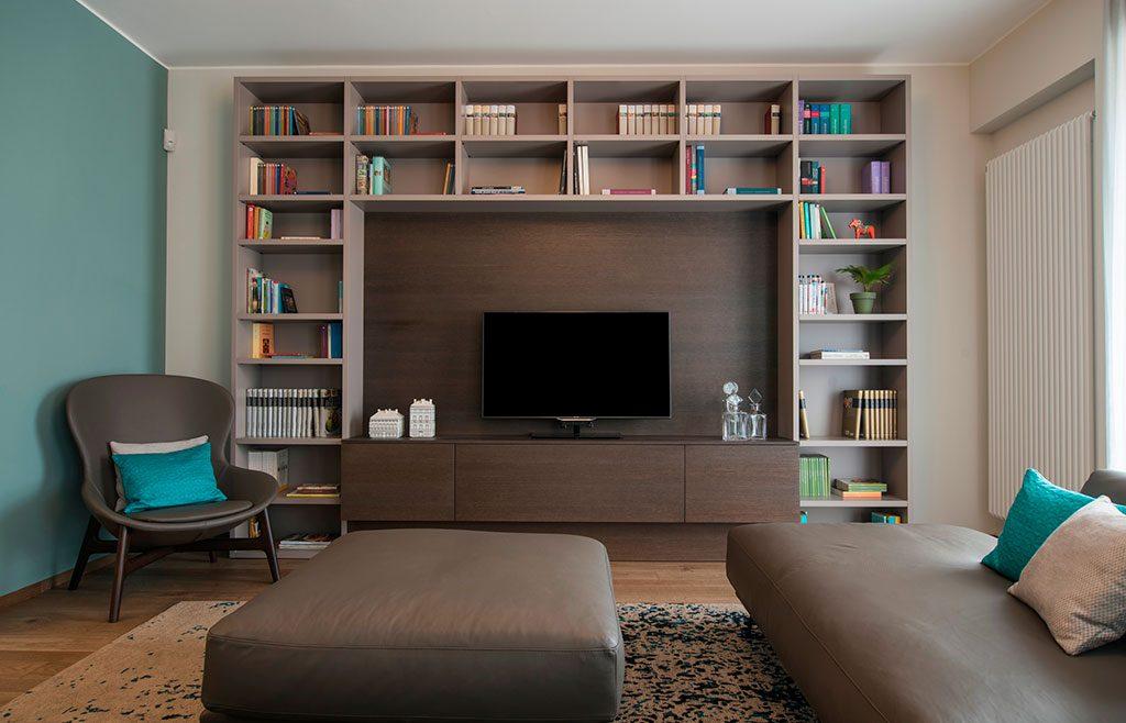 parete attrezzata libreria living