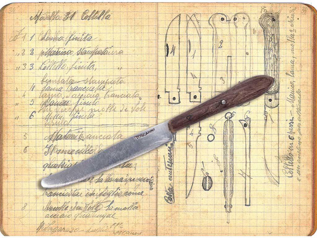 schizzi coltelli toscanini epoca