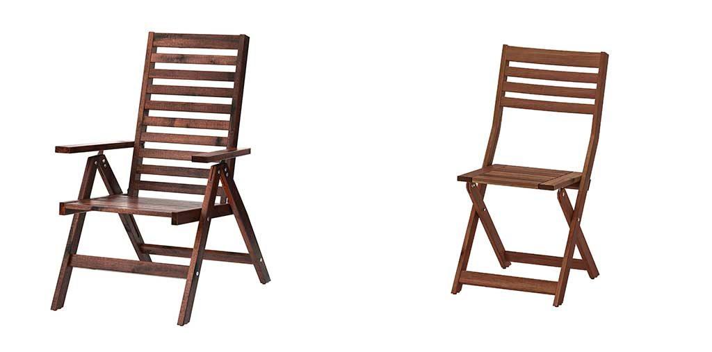 sedie pieghevoli legno esterno
