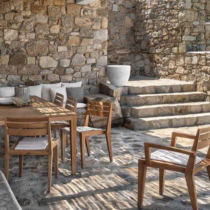 sedie tavolo esterno teak