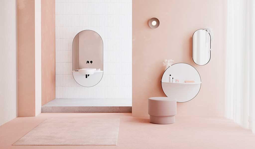 specchio lavabo mensola