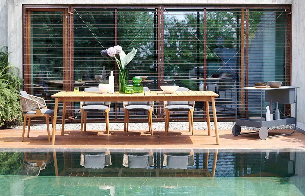 tavolo esterno sedie carrello