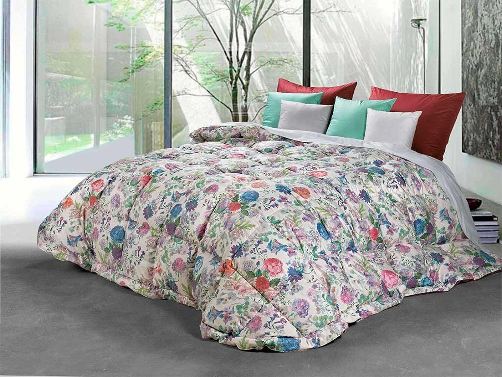 trapunta fiori letto