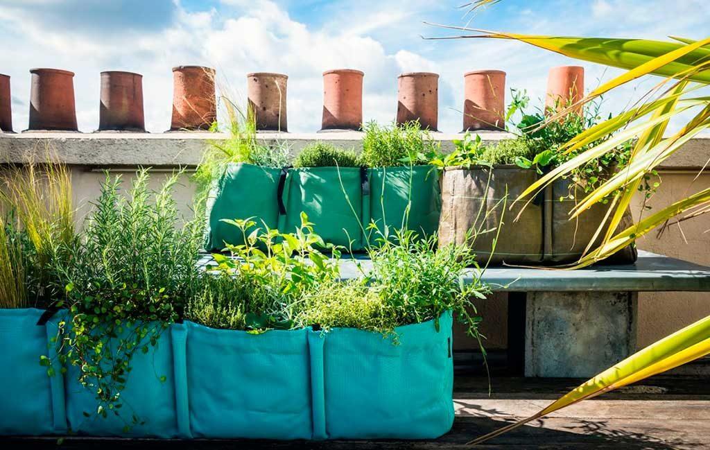 vasi balcone sacchi piante
