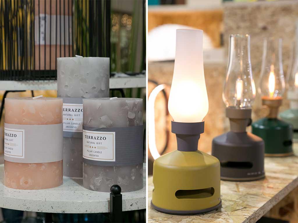 candele e lampade a olio