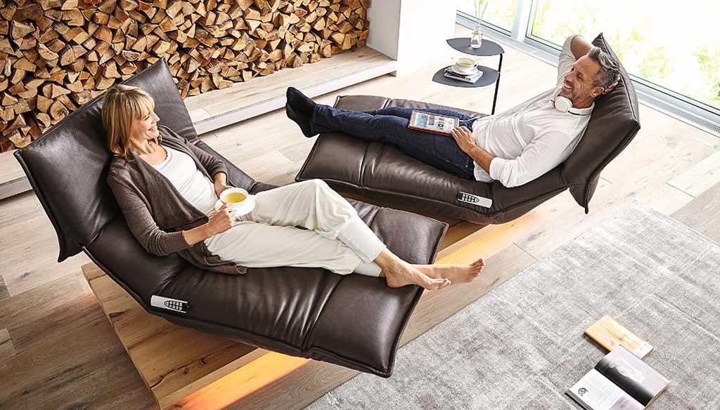 divano chaise longue girevole