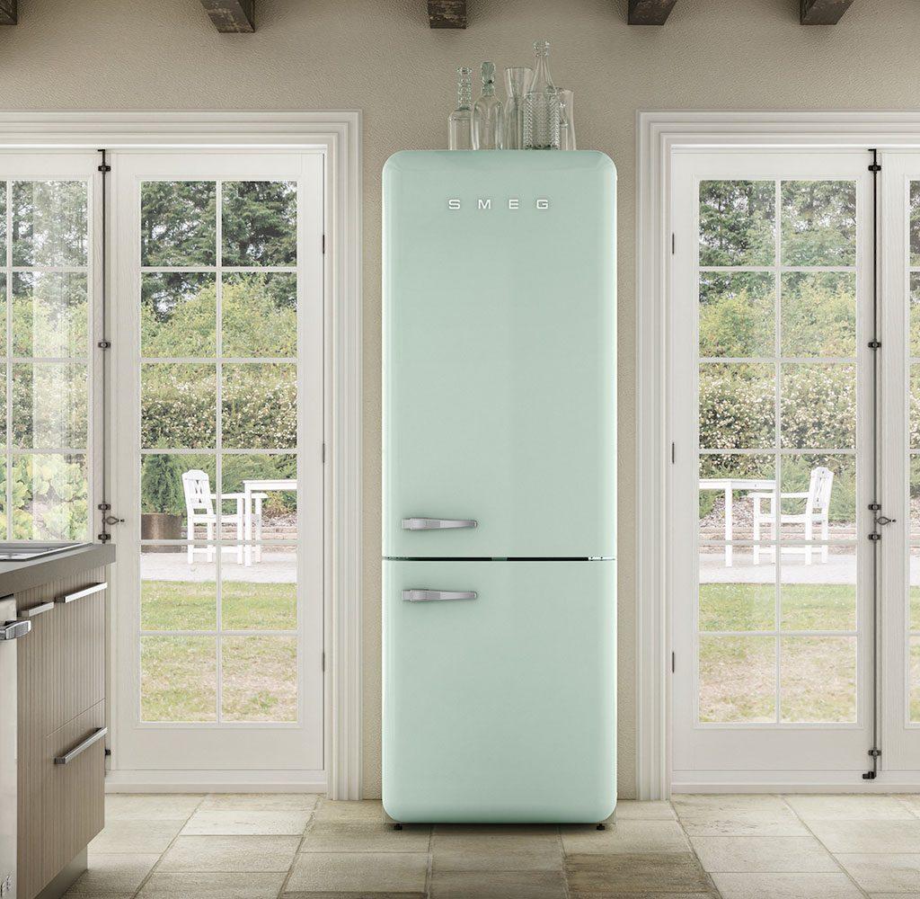 frigorifero bombato acquamarina