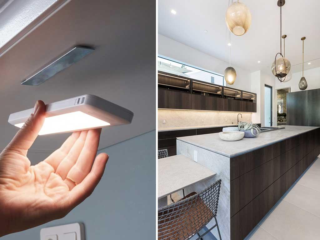 luce sottopensile e faretti incasso cucina