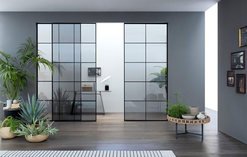 sistema scorrevole vetro porte