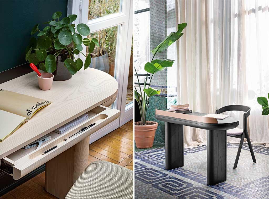 scrivania legno con cassetto