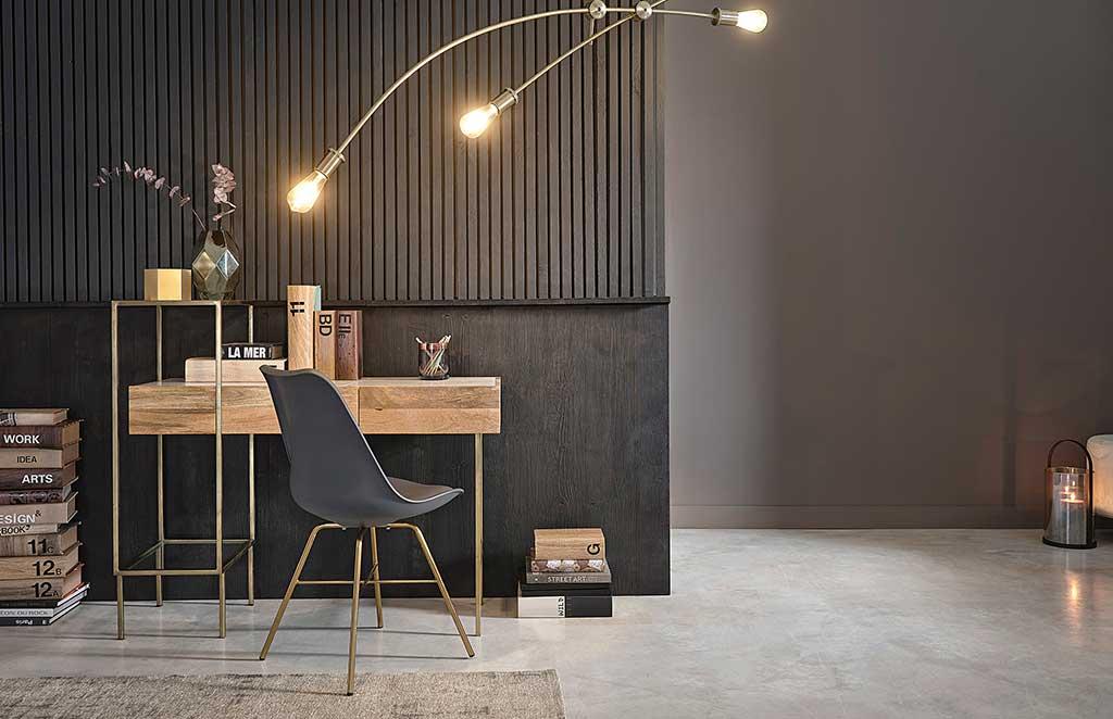 scrivania legno e piedi metallo