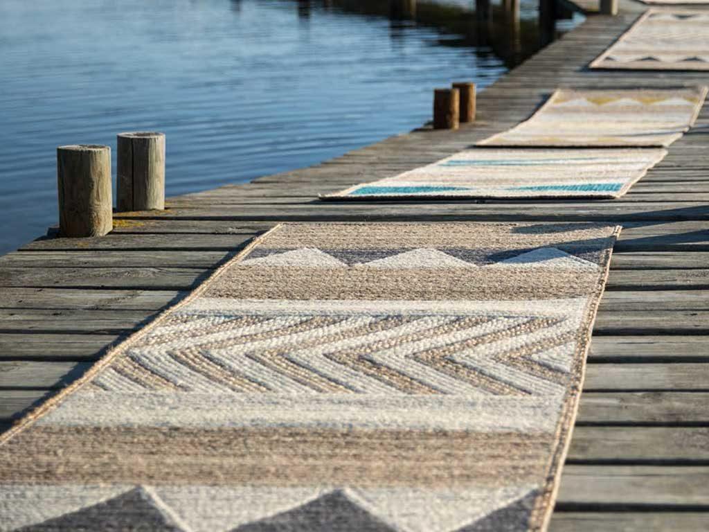 tappeto pontile legno
