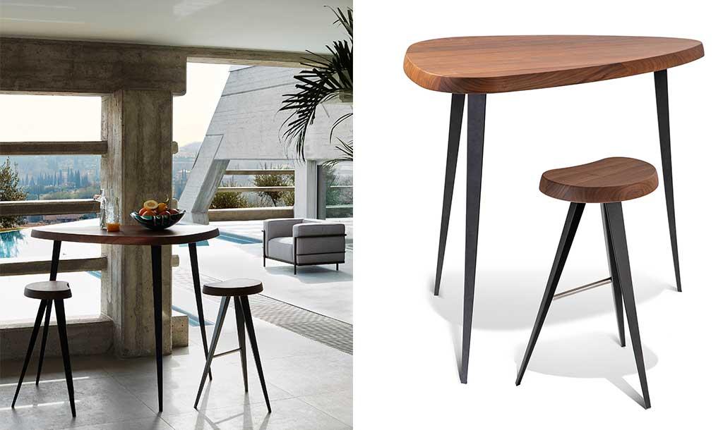 tavolo bar alto legno massello