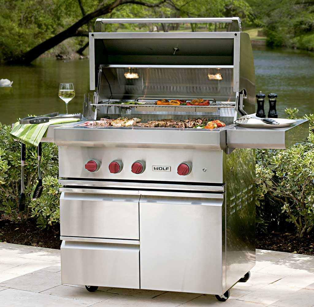 barbecue esterno gas inox
