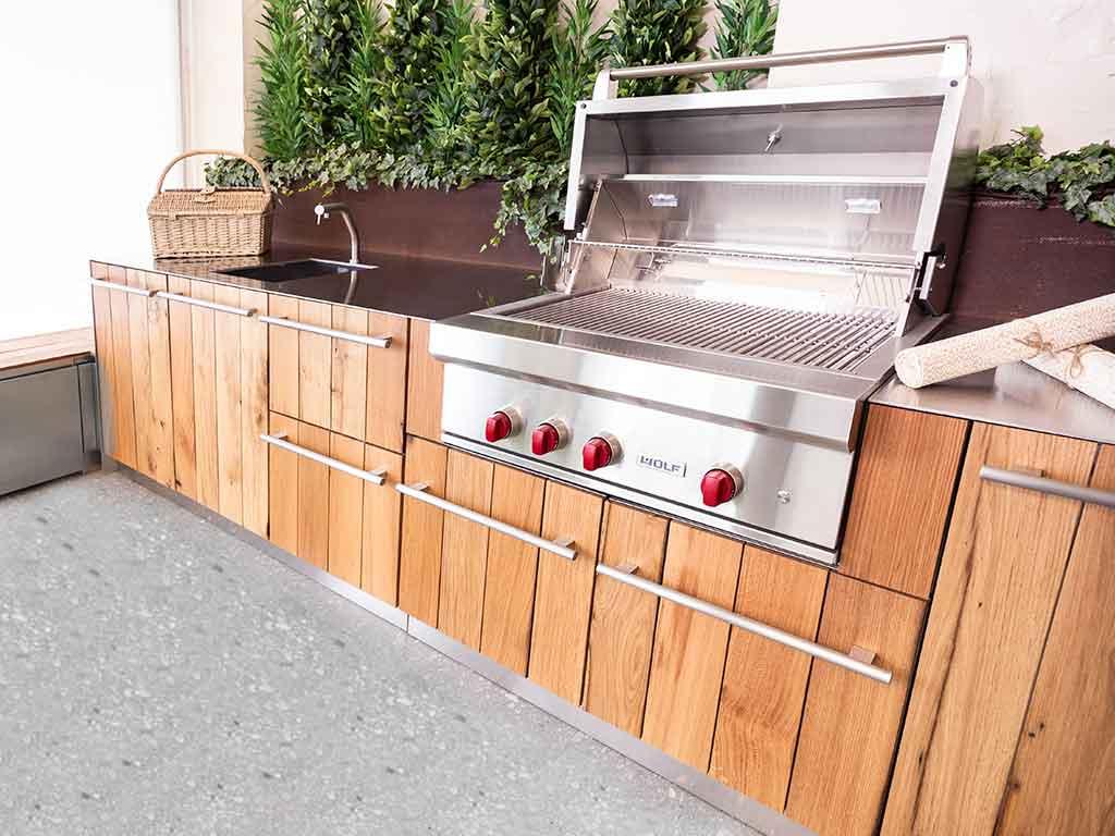 barbecue incasso cucina da esterno