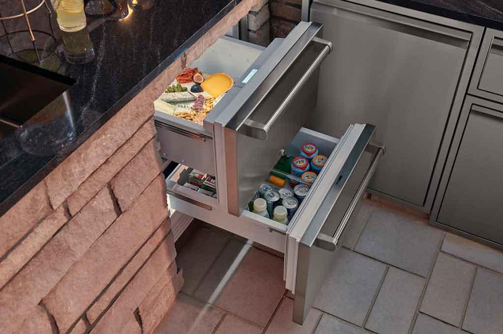 cassetto sottozero per cucina esterno