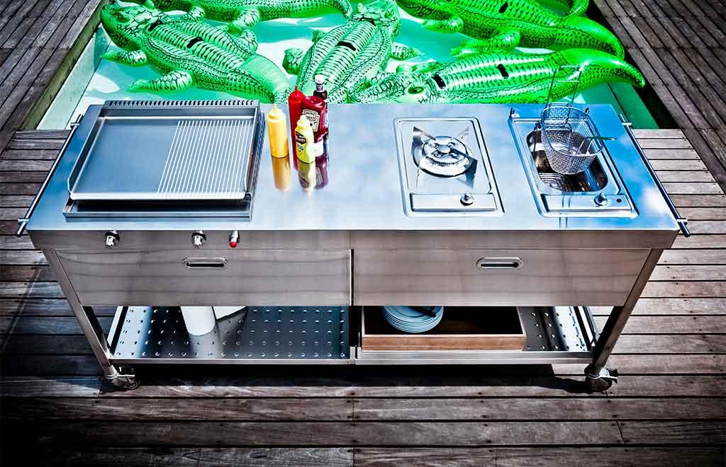 modulo cucina esterno acciaio