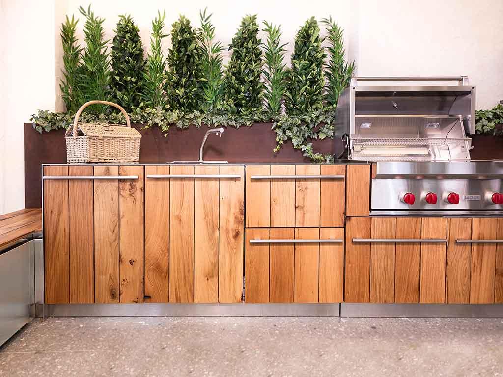cucina da esterno resistente