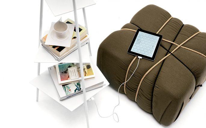 pouf e lampada design