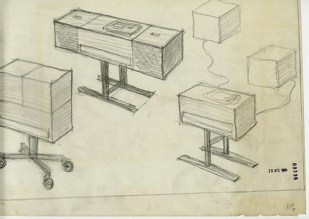 disegno castiglioni brionvega radiofonografo