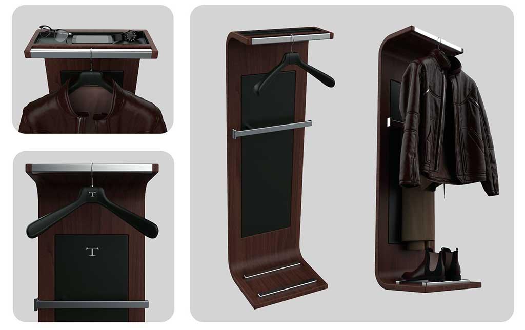 servomuto indossatore in legno design